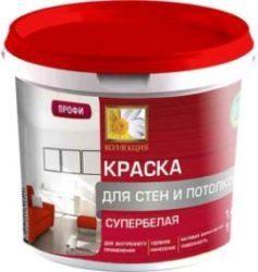 Водоэмульсионная краска «КОЛЛЕКЦИЯ» супербелая для стен и потолков